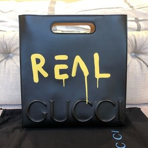 Gucci Ghost Leather Tote